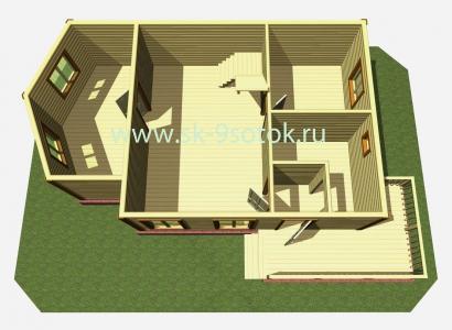 Дом 6х10 метров «Вятич»