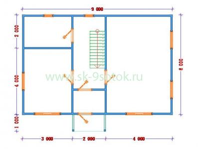 Дом 6х9 метра «Олимп»