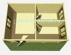 Дом 6х4 метра «Эконом».