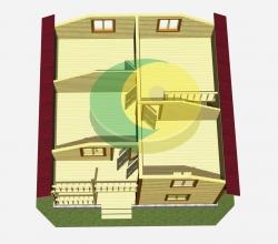 Дом 8х8 метра «Армата»