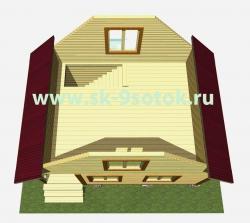 Дом 6х4 метра «Дачник»