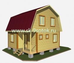Дом 6х8 метра «Крым»