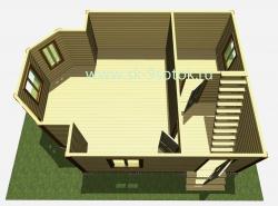 Дом 6х8 метра «Камелот»