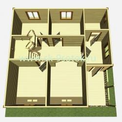 Дом 8х8 метра «Флагман»