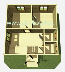 Дом  6х6 метра «Онега»