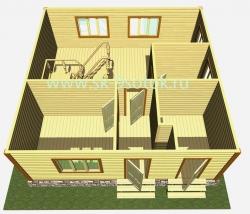 Дом 7,5х7,5 метра «Семейный»