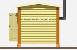 Мобильная баня 6х2.3 метра «Полушка»