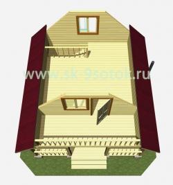 Дом-баня 6х6 метра «Ясень»