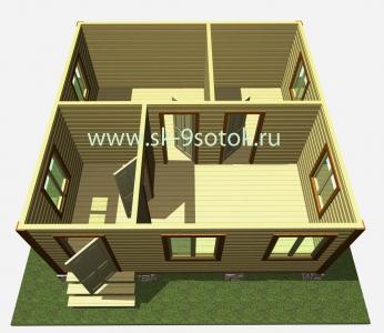 Дом 6х6 метра «Ладога»