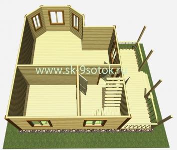 Дом 8х8 метра «Фрегат»