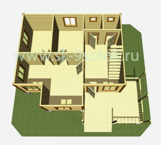 Дом  8,5х9,5 метра «Всеславец»