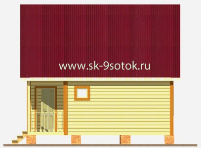 Дом 6х6 метра «Терем»