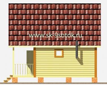 Дом-баня 6х6 метра «Прогресс»