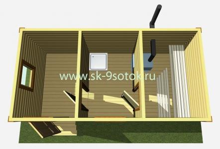 Баня 6х3 метра «Дубок»
