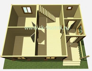 Дом 6х8 метра «Норд»