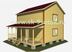 Каркасный дом 8х8 метра «Палыч».