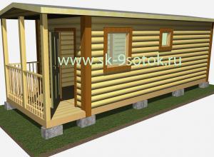 Мобильная баня 7х2.3 метра «Полянка»